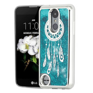 *Sale* Electroplating Quicksand Case for LG Aristo 2 / Fortune 2 / K8 (2018) / Tribute Dynasty - Dreamcatcher Blue