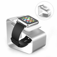 Aluminum Desktop Charging Dock Stand for Apple Watch - Silver