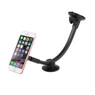 Magnetic Universal Smartphone Windshield Gooseneck Mount with Stabilizer - Black