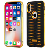 *Sale* Dot Grid Dual Layer Hybrid Case for iPhone X - Black