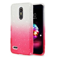 *Sale* Tuff Full Glitter Hybrid Protective Case for LG K30 - Gradient Pink