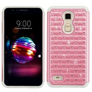 *Sale* TotalDefense Diamond Hybrid Case for LG K30 - Pearl Pink Grey