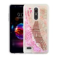 *Sale* Quicksand Glitter Transparent Case for LG K30 - Eiffel Tower