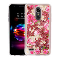 *Sale* Quicksand Glitter Transparent Case for LG K30 - European Rose