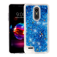 *Sale* Quicksand Glitter Transparent Case for LG K30 - Blue