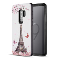 *Sale* Art Pop Series 3D Embossed Printing Hybrid Case for Samsung Galaxy S9 Plus - Eiffel Tower