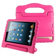 Kids Friendly Light Weight Shock Proof Standing Case with Handle for iPad Mini 1 / 2 / 3 / 4th Generation - Hot Pink