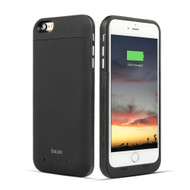 Power Bank Battery Case 6800mAh and Tempered Glass Screen Protector for iPhone 6 Plus / 6S Plus - Black