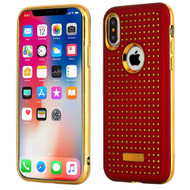 *Sale* Dot Grid Dual Layer Hybrid Case for iPhone X - Red