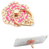 Smart Loop Universal Smartphone Holder & Stand - Diamond Flower Hot Pink