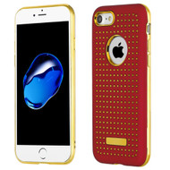 *Sale* Dot Grid Dual Layer Hybrid Case for iPhone 8  / 7 - Red