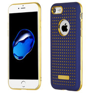 *Sale* Dot Grid Dual Layer Hybrid Case for iPhone 8  / 7 - Navy Blue