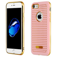 *Sale* Dot Grid Dual Layer Hybrid Case for iPhone 8  / 7 - Pink
