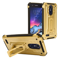 Rugged Hybrid Kickstand Case for LG Aristo 2 / Fortune 2 / K8 (2018) / Tribute Dynasty / Zone 4 - Gold