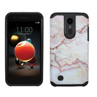 Hybrid Multi-Layer Armor Case for LG Aristo 2 / Fortune 2 / K8 (2018) / Tribute Dynasty / Zone 4 - Marble Pink
