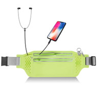 Water Resistant Fanny Waist Pack Pocket Belt - Neon Green