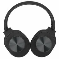 Foldable Bluetooth Wireless Over-Ear Headphones with Mic and FM Radio - Black