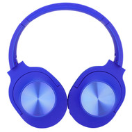 Foldable Bluetooth Wireless Over-Ear Headphones with Mic and FM Radio - Blue
