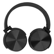 Foldable Bluetooth Wireless On-Ear Headphones with Mic and FM Radio - Black