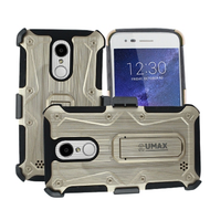 Armor Case + Holster + Tempered Glass for LG Aristo 2 / Fortune 2 / K8 (2018) / Tribute Dynasty / Zone 4 - Gold