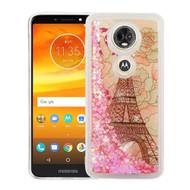 Quicksand Glitter Transparent Case for Motorola Moto E5 Plus - Eiffel Tower