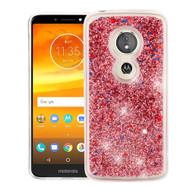 *Sale* Quicksand Glitter Transparent Case for Motorola Moto E5 Plus - Rose Gold