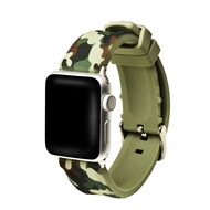 Camouflage Sport Band Silicone Watch Strap for Apple Watch 42mm - Green