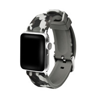 Camouflage Sport Band Silicone Watch Strap for Apple Watch 42mm - Grey