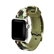 Camouflage Sport Band Silicone Watch Strap for Apple Watch 38mm - Green