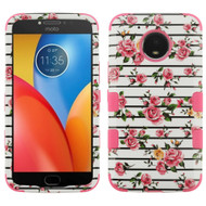 Military Grade Certified TUFF Image Hybrid Armor Case for Motorola Moto E4 Plus - Pink Fresh Roses