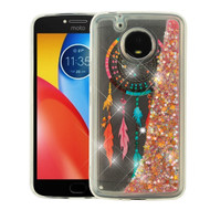 Quicksand Glitter Transparent Case for Motorola Moto E4 Plus - Dreamcatcher