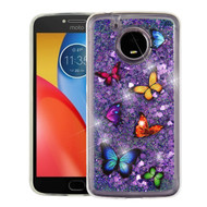 Quicksand Glitter Transparent Case for Motorola Moto E4 Plus - Butterfly Dancing