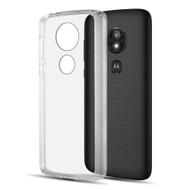 *Sale* Polymer Transparent Hybrid Case for Motorola Moto E5 Plus - Clear