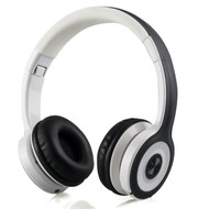 Classic On-Ear Folding Bluetooth V4.2 Wireless Headphones with Microphone - Grey White