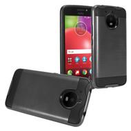 Brushed Coated Hybrid Armor Case for Motorola Moto E4 Plus - Black