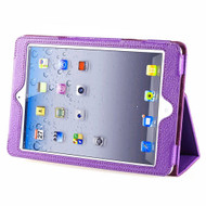 Leather Portfolio Smart Case for iPad (2018/2017) / iPad Air / iPad Air 2 - Purple