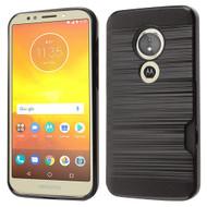 ID Card Slot Hybrid Case for Motorola Moto E5 Play / E5 Cruise - Black