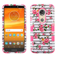 Military Grade Certified TUFF Image Hybrid Armor Case for Motorola Moto E5 Plus - Pink Fresh Roses