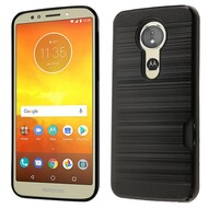 ID Card Slot Hybrid Case for Motorola Moto E5 Plus - Black
