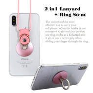 2-IN-1 Smart Loop Universal Smartphone Holder & Stand with Lanyard - Rose Gold