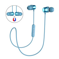 Havit Magnetic Absorbing Bluetooth V4.2 Wireless Sweatproof Headphones with Microphone - Blue