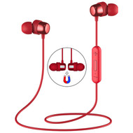 Havit Magnetic Absorbing Bluetooth V4.2 Wireless Sweatproof Headphones with Microphone - Red