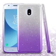 Full Glitter Hybrid Protective Case for Samsung Galaxy J3 (2018) - Gradient Purple