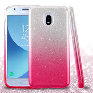 *Sale* Full Glitter Hybrid Protective Case for Samsung Galaxy J3 (2018) - Gradient Pink