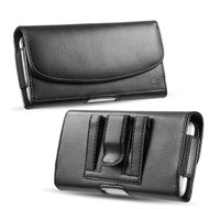 Synthetic Horizontal Leather Pouch Case - Black
