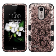 Military Grade TUFF Case for LG Aristo 2 / Fortune 2 / K8 (2018) / Tribute Dynasty / Zone 4 - Leaf Clover Rose Gold