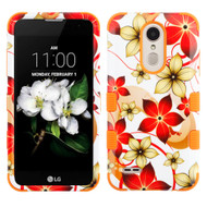 Military Grade TUFF Hybrid Case for LG Aristo 2 / Fortune 2 / K8 (2018) / Tribute Dynasty / Zone 4 - Hibiscus Orange