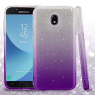 Full Glitter Hybrid Protective Case for Samsung Galaxy J7 (2018) - Gradient Purple
