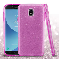 *Sale* Full Glitter Hybrid Protective Case for Samsung Galaxy J7 (2018) - Purple