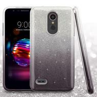 Full Glitter Hybrid Protective Case for LG K30 - Gradient Black